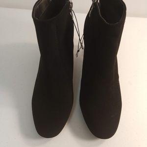 Madeline Stuart Shoes - Madeline Stuart Black Booties Lucite Heel 8.5 M